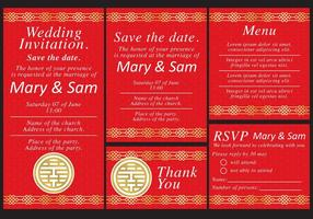 Chinese Wedding Templates vector