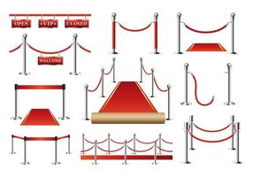 Silver Velvet Rope Vector gratuito