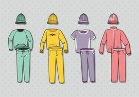 Free Colorful Tracksuit Vector