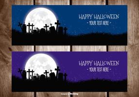 Halloween vektor banner