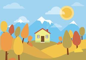 Vector paisaje de otoño
