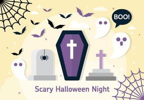 Free Halloween Vector Coffin Illustration