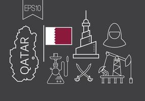 Icônes vectorielles libres de Qatar