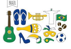 Icônes vectorielles brésiliennes gratuites