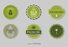 Timbres de vecteur d'huile de palme
