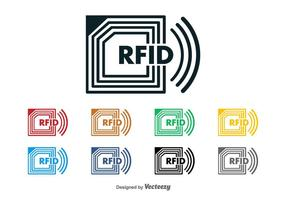 Logo vectoriel rfid chip