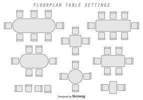 Vloerplan Geometrische Vector Elementen