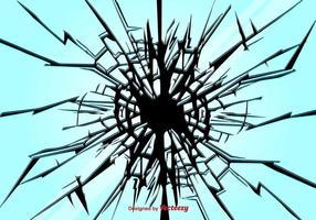 Fondo de vector de vidrio roto