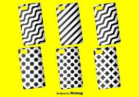 Black and White Phone Case Vector Background