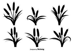 Vits svarta ikoner vektor uppsättning