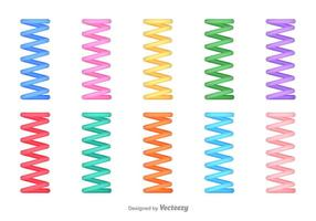 Set Van Vector Slinky Abstract Pictogrammen