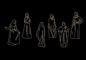 Abaya Vector Illustrations