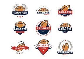 Free Tailgate Badges Party Vector