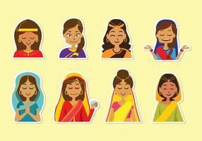 Vetor indio livre da mulher