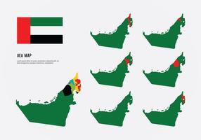 Vecteurs de carte des Émirats arabes unis