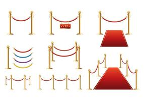 Gratis Velvet Barrier Vector