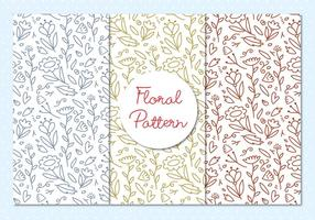 Floral Pattern Outline Illustration
