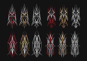 Art vectoriel à base de vinyle à rayures