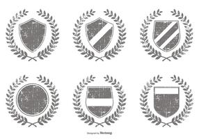 Distressed Vector Crest Shapes