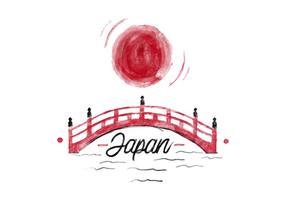 Vector libre de la acuarela de Japón