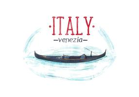 Vettore libero dell'acquerello di Venezia Italia