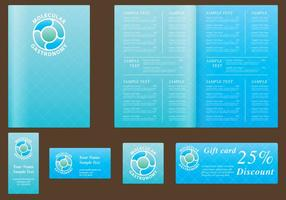 Blue Menu Templates
