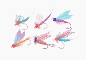 Vetor de pesca com mosca