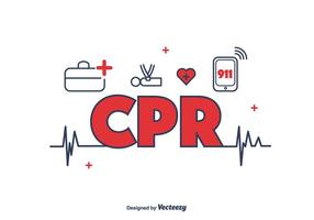 CPR Icons Vector
