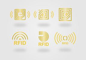 Rfid pictogram vector set