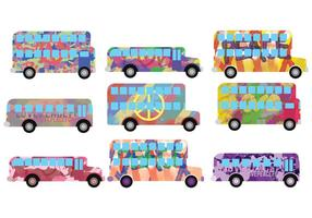 Vetores de ônibus Hippe