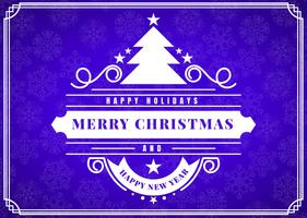 Feliz Navidad Vector Plantilla