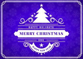Merry Christmas Vector Template