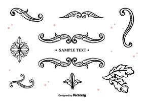 Handdragen Vector Ornaments
