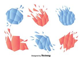 Abstract Shatter Object Vector