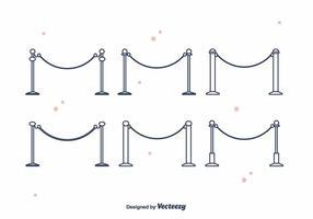 Vector de terciopelo cuerdas