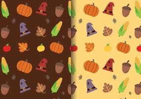 Gratis Thanksgiving Pattern Vector