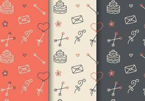 Freie Liebe Muster Vektor