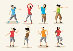 Zumba Dance Vector Gratis