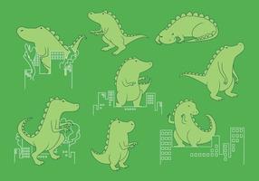 Vetor Godzilla grátis