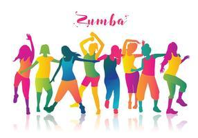 Zumba Dancers  Vector