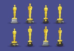 Vecteur de statue d'Oscar gratuit