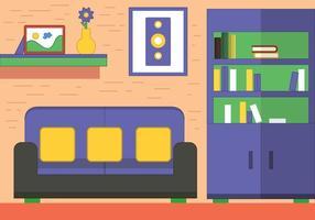 Diseño vectorial libre de la habitación
