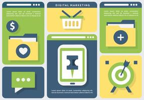Online Marketing Business Vector Illustratie