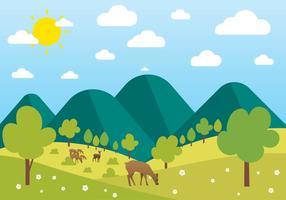 Libre hermoso paisaje de vectores