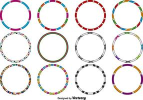 Vector Hula Hoops Set