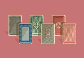 Carte à jouer arrière vecteur coloré