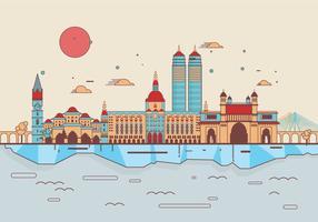 Mumbai landmarks vector
