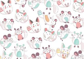 Chinchilla cute pattern vector