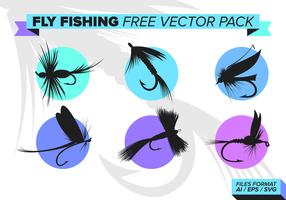 Pesca con mosca libre Vector Pack