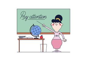 Vector libre del profesor